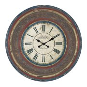 EC World Imports Oversized Urban Cafe De La Tour Paris Hand Carved 34'' Wall Clock