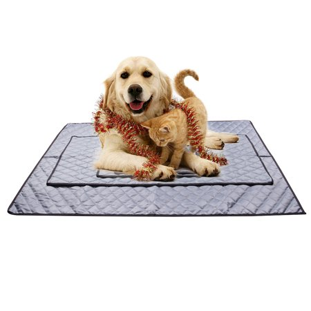 1 Inch Kennel Pet Pad (NK Cooling Mat Pet Cool Pad Fast Self Cooling Dog Bed Cat Kennel Mat Non-Toxic Easy Clean L)