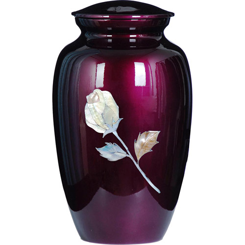 Star Legacy Inlayed Burgandy Pearl Rose Urn, Large/Adult
