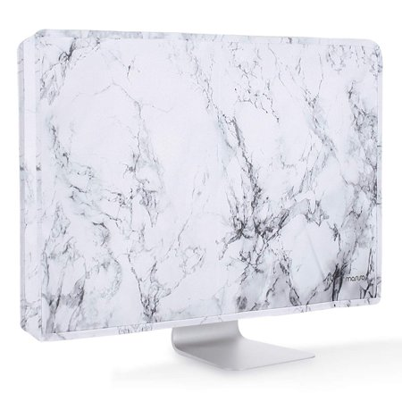 Mosiso Protective Dust Cover for LCD Flat Screen Computer Monitors fits 32-34 Inch Computer,Marble Lcd Monitor Dust Cover