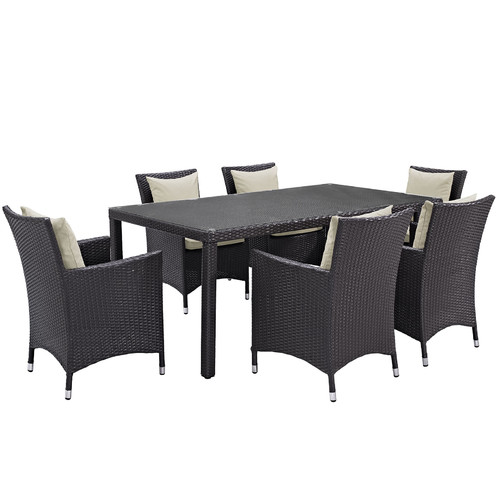 Sol 72 Outdoor Brentwood 7 Piece Outdoor Patio Dining Set with Cushions