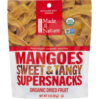 Made In Nature: Organic Mangoes Dried & Unsulfured, 3 Oz