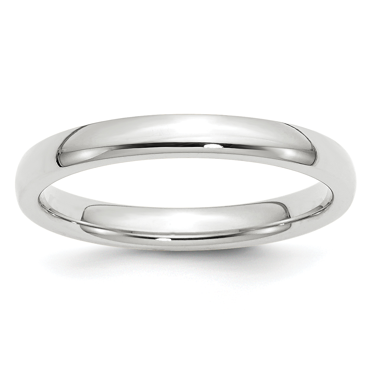 Roy Rose Jewelry 10K White Gold 3mm Standard Comfort Fit Wedding Band Ring Size 5.5