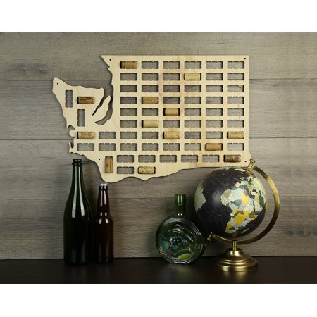 Wine Cork Traps State of Washington Wooden Wine Cork Holder Organizer Wall Decoration ()