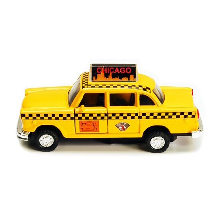 Chicago Illinois Old Yellow Checker Taxi Cab Diecast Metal car model 5
