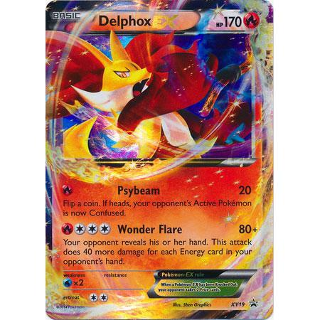 Pokemon Promo Delphox-EX XY19](Ex On The Beach Promo)