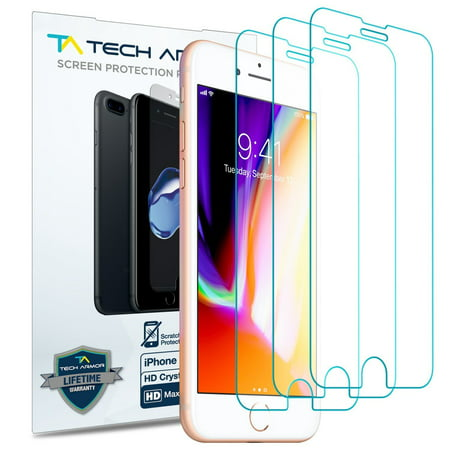 Tech Armor Apple iPhone 7 Plus, iPhone 8 Plus (5.5-inch) HD Clear film Screen Protector [3-Pack] ()