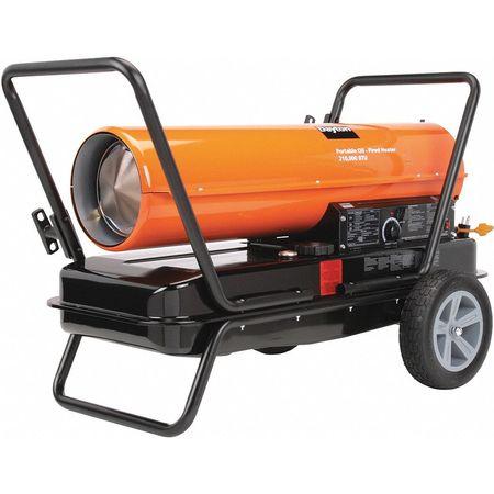 DAYTON Oil Fired Torpedo Heater,210,000 BtuH 3VE52