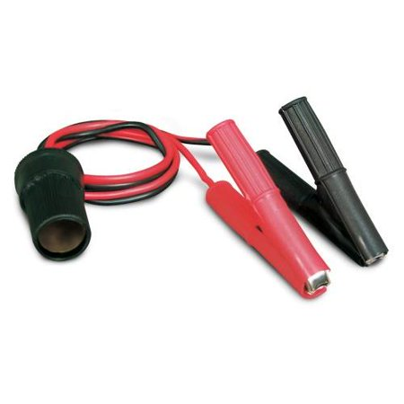 Roadpro 12V Battery Clip-On and Cigarette Lighter Adapter Multi-Colored