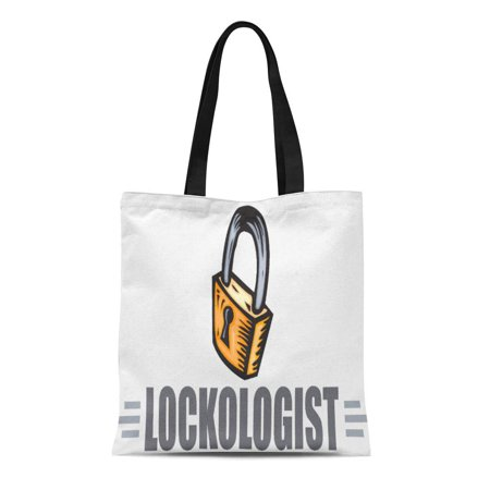 ASHLEIGH Canvas Tote Bag Lock Funny Locksmith Collecting Collector Humorous Love Reusable Handbag Shoulder Grocery Shopping Bags (Bass Collectors)
