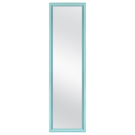 Over The Door Mirror Walmart.Mainstays 14 25 X 50 25 Aqua Over The Door Mirror