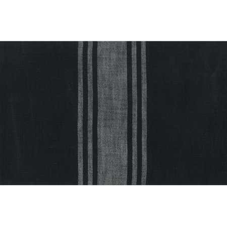 Moda Urban Cottage Black Grey Stripe 16 Inch Cotton Toweling