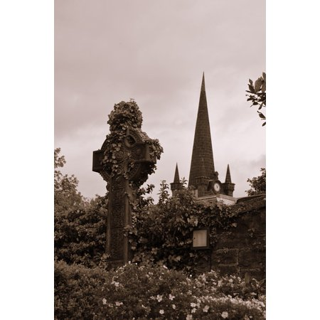 Canvas Print Ireland High Cross Grave Cross Tombstone Cemetery Stretched Canvas 10 x 14