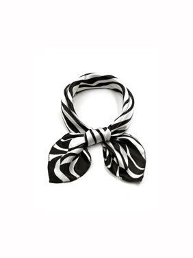 K3 Women Square Shaped Printed Contrast Color Casual Scarf