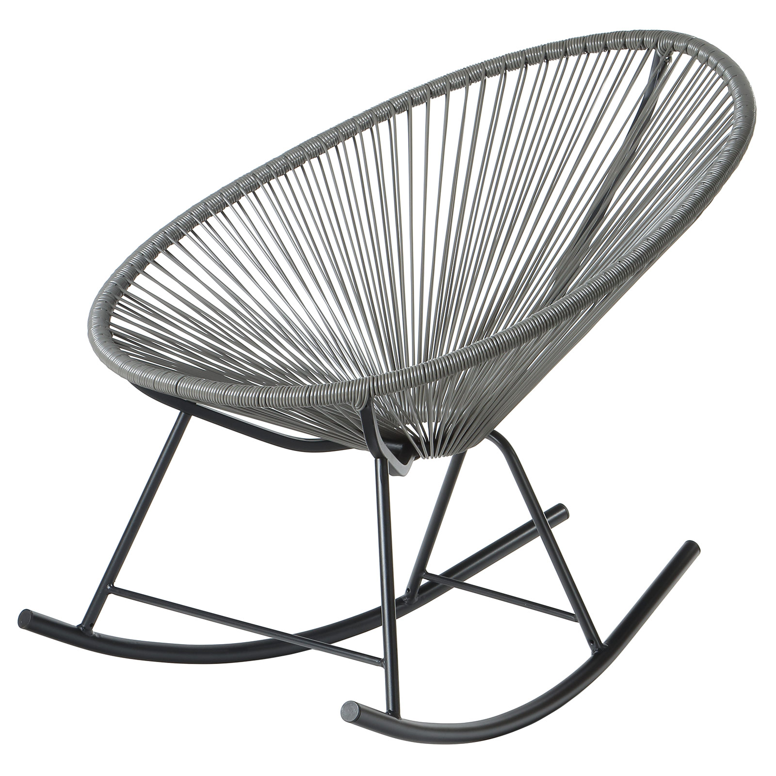 Acapulco Indoor / Outdoor Outdoor Patio Rocking Chair (Grey)