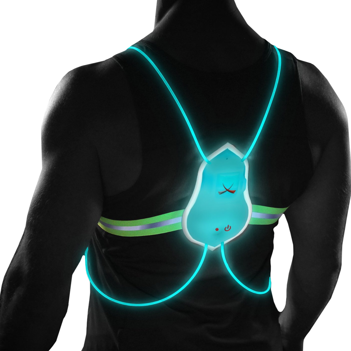 Noxgear Tracer360 Multicolored Illuminated Reflective Visibility Running Vest