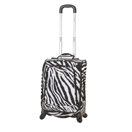 Rockland Luggage 20 in. Zebra Spinner Carry On Luggage