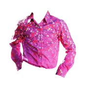 Cruel Girl Western Shirt Girls Kids L/S Floral Snap Purple CTW3141003
