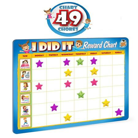 Rewards Chore Chart for Kids - 49 Responsibility and Behavior Chores - Ultra Thick Magnetic - Good Behavior Reward Chart