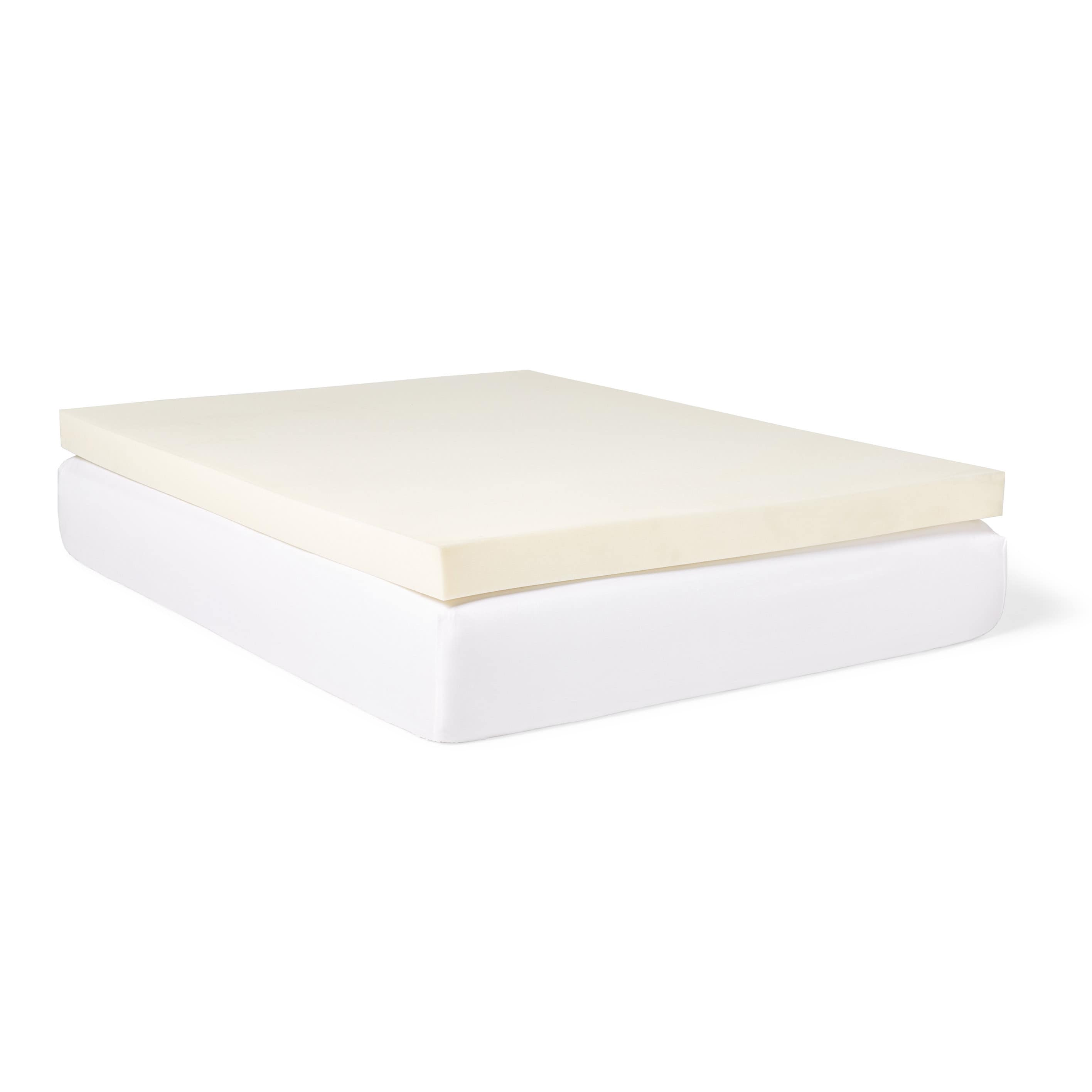 Slumber Solutions 4 Inch Memory Foam Mattress Topper Walmart Com