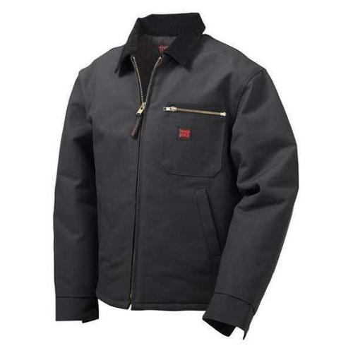 TOUGH DUCK 213726-3XL-BLK Chore Jacket,Cotton Duck,Black,3XL G1872967