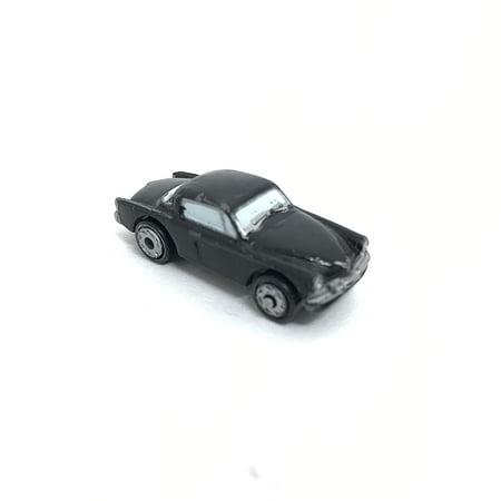 Non Turbo Race - Micro Machines Miniature Car 2002 Atomix Hot Wheels MX-48 Turbo Car, Black & Silver, Drag Race