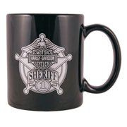 Harley-Davidson Sheriff Original Black Ceramic Coffee Mug, 11 oz. CM126430
