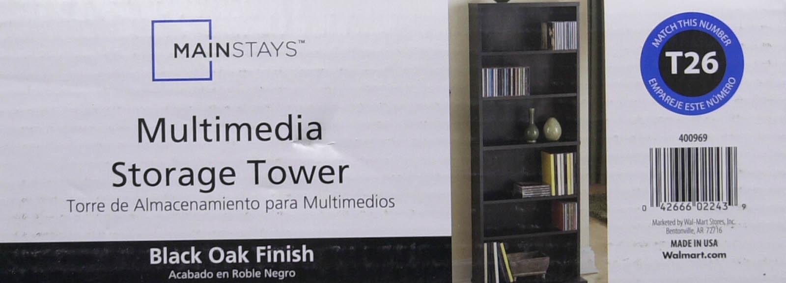 Walmart media storage media storage tower walmart instructions.