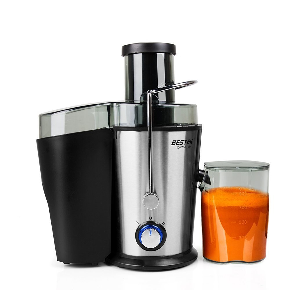 BESTEK Juice Extractor, 400W 2-Speed Big Mouth Fruit Juicer Machine with Juice Cup and Cleaning Brush,... by