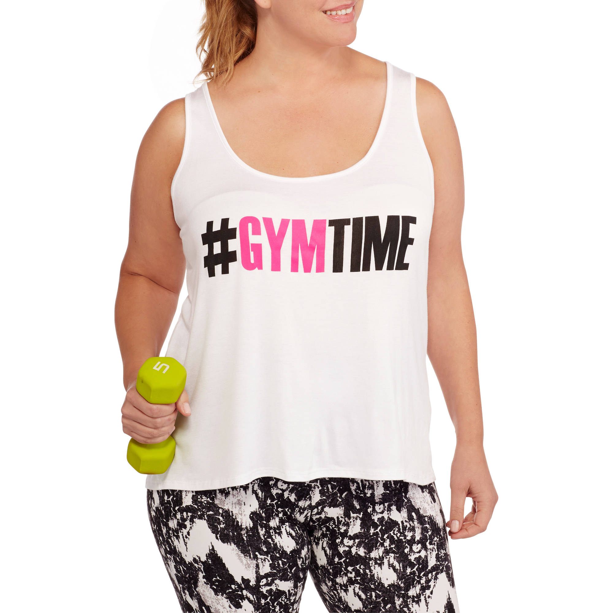 Fitspiration Women's Plus 'Gym Time' Graphic Tank Top