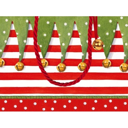 Christmas Gift Bag Small 7x3x5.25 inch Stocking Stripe