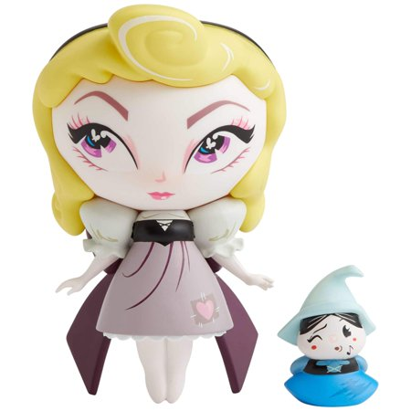 Enesco The The World of Miss Mindy Sleeping Beauty Aurora and Mini Merryweather Vinyl Figurine, 7 Inch, Multicolor ()