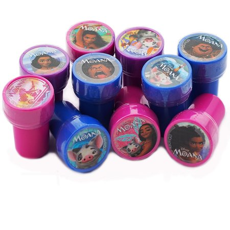 12 Moana Character Authentic Licensed Self Inking Stampers
