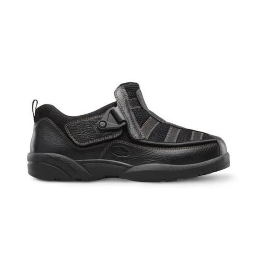 Dr. Comfort Edward-X Men's Therapeutic Diabetic Extra Depth Shoe: Black 7.5 Wide (W/4E) Velcro