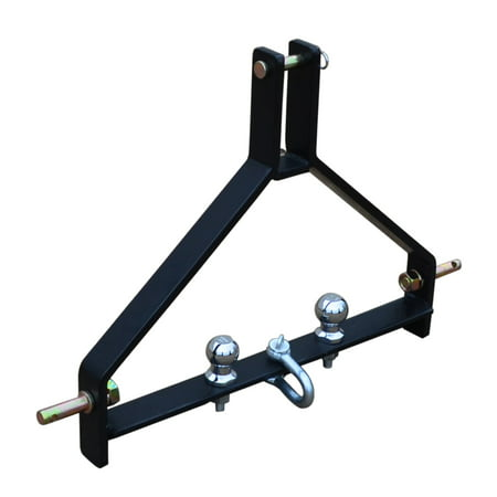 Titan Attachments Tractor Drawbar Trailer Hitch Cat 1 3 Point Quick Hitch Category 1, 3-Point Tractor Drawbar Trailer Hitch For Tractors Quick Hitch Compatible