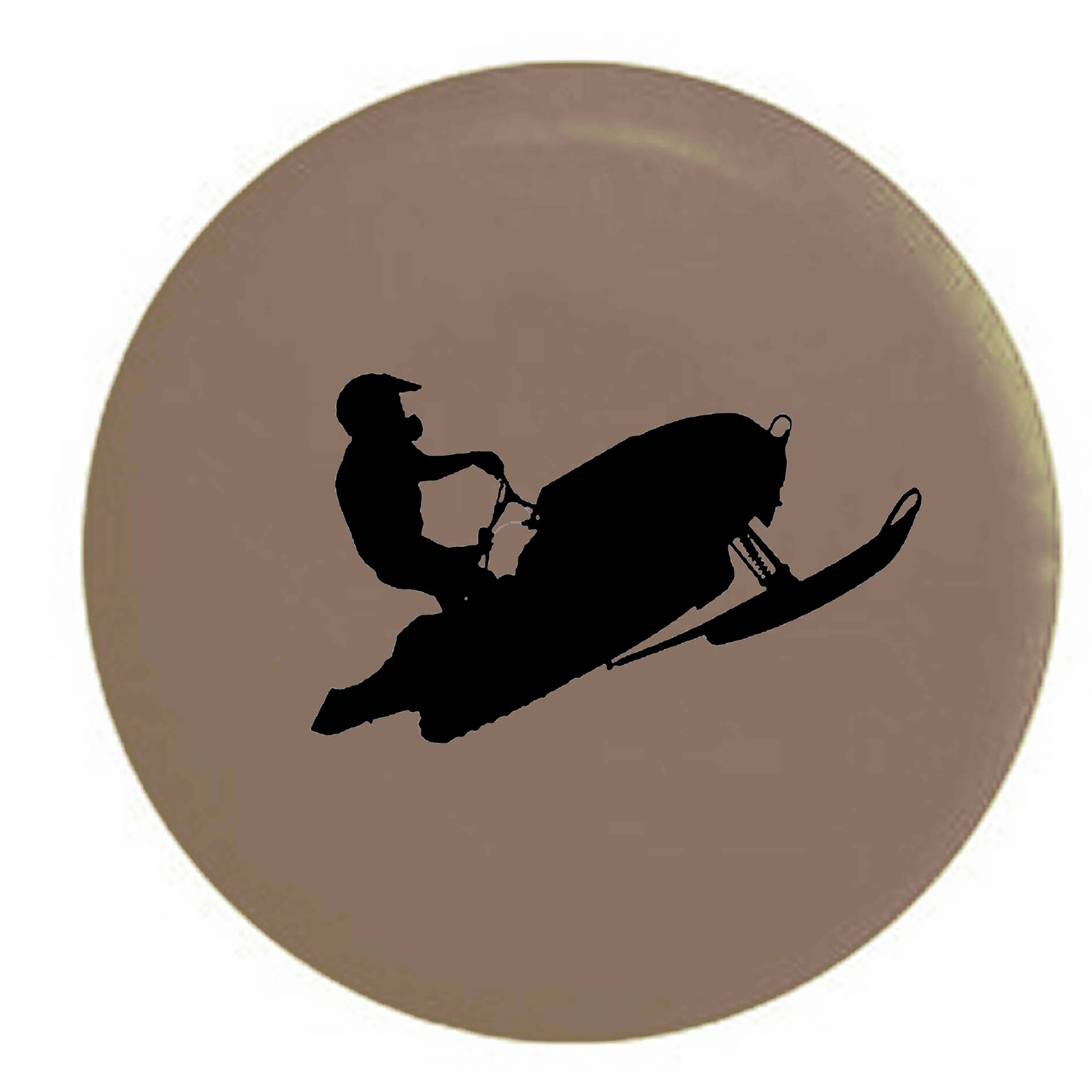 Pike Outdoors Alaska Moose Home State Edition RV Spare Tire Cover OEM Vinyl White 29 in