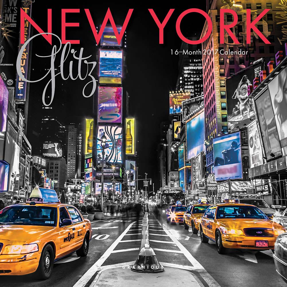 New York Glitz Mini Wall Calendar