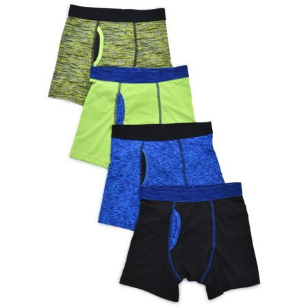 Athletic Works Space Dye Boys Underwear, 4 Pack Boxer Brief (Little Boys & Big Boys)