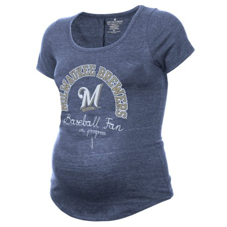 0697e41efc573 Milwaukee Brewers Women's Maternity Baseball Fan Tri-Blend T-Shirt ...
