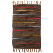 CLM Canyon Hand-Woven Cotton Cocoa Area Rug