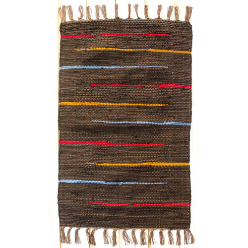CLM Canyon Cocoa Stripe Area Rug