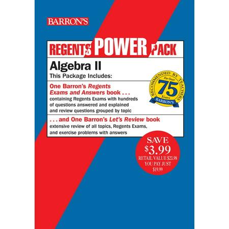 Regents Algebra II Power Pack : Let's Review Algebra II + Barron's Regents Exams and Answers: Algebra II ()