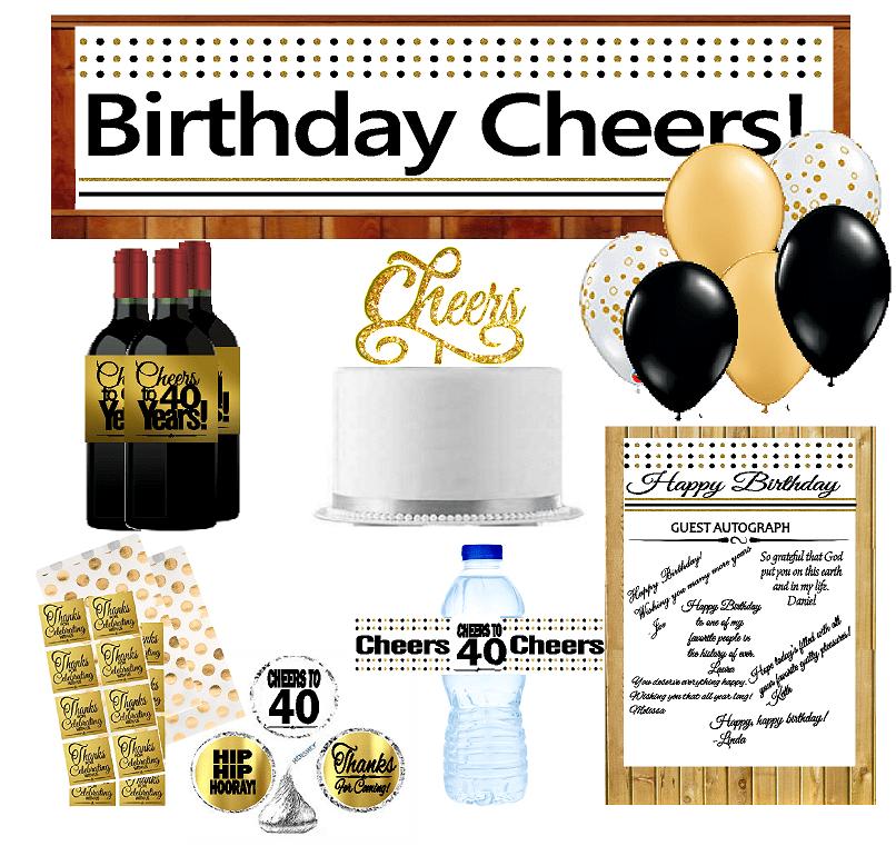 40th Birthday Party DecorationsDecoraitons Kit w. Banner ...