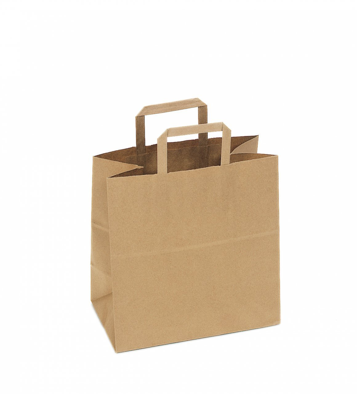 Superb SafePro 12717, 12x7x17 Inch Kraft Paper Shopping Bags With Handles,  Disposable Take Out