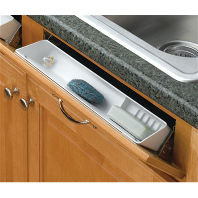 Rev-A-Shelf RS6591. 14. 15. 4 14 inchL Sink Front Accessory Tray-Almond