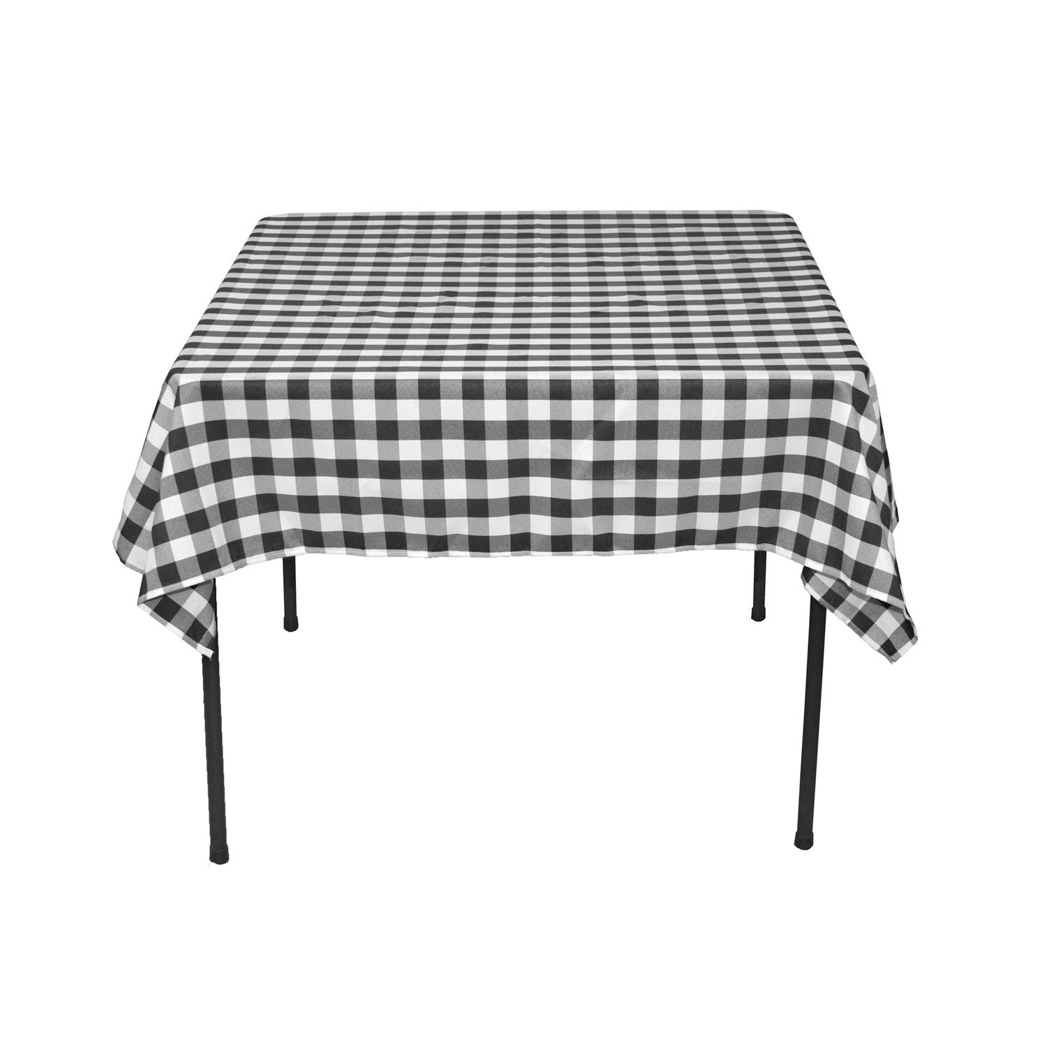 Square Polyester Tablecloth Black U0026amp; White Checkered