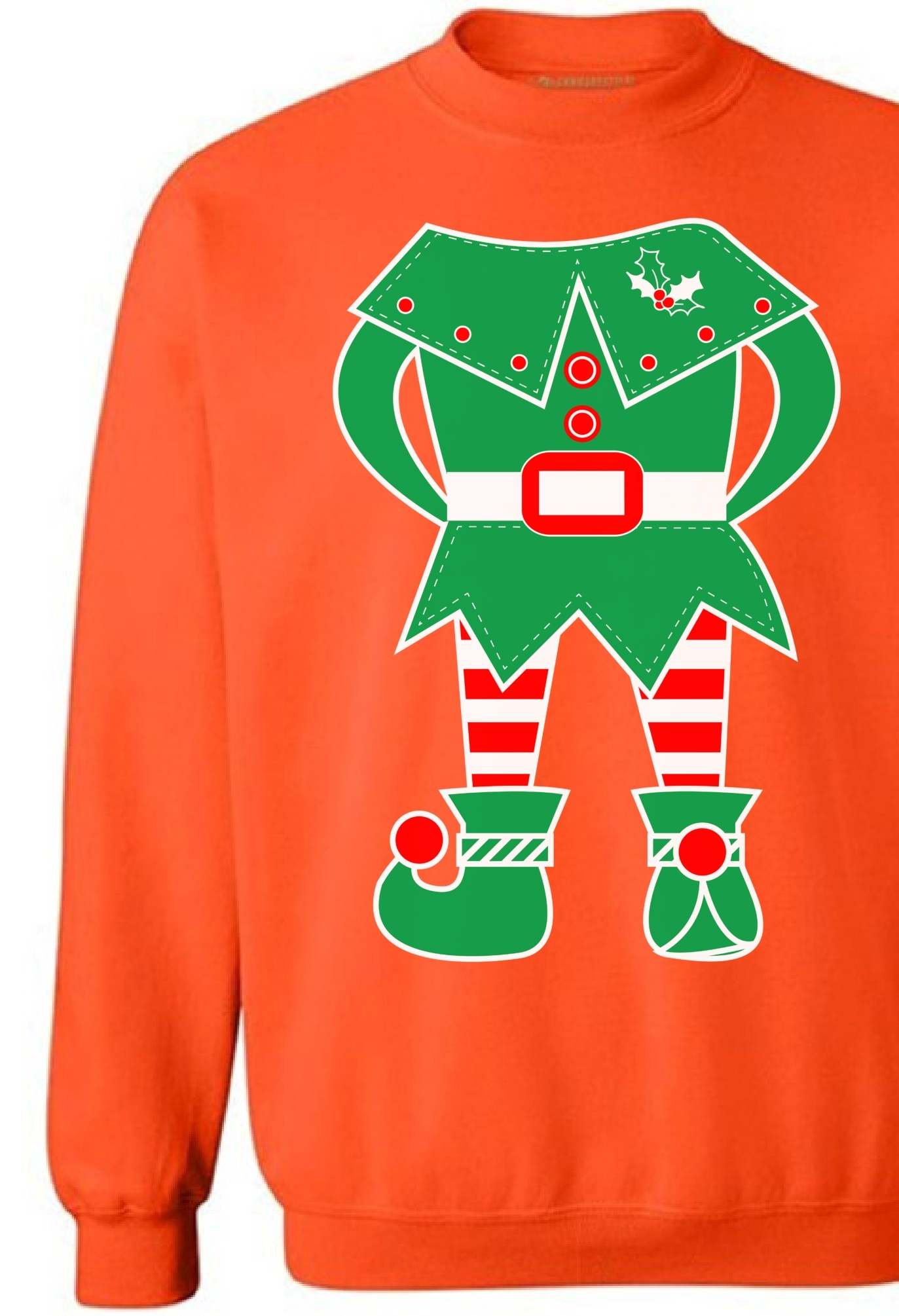 Awkward Styles Elf Christmas Sweatshirt Holiday Sweater Elf Suit Christmas Sweater Elf Christmas Sweater Holiday Party Family Elf Christmas Sweatshirt for Men and for Women Xmas Gifts