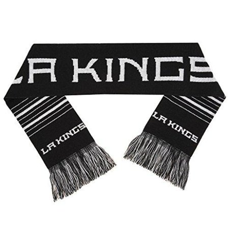 Forever Collectibles NHL Los Angeles Kings 2 Sided Knit Wordmark Logo Scarf,