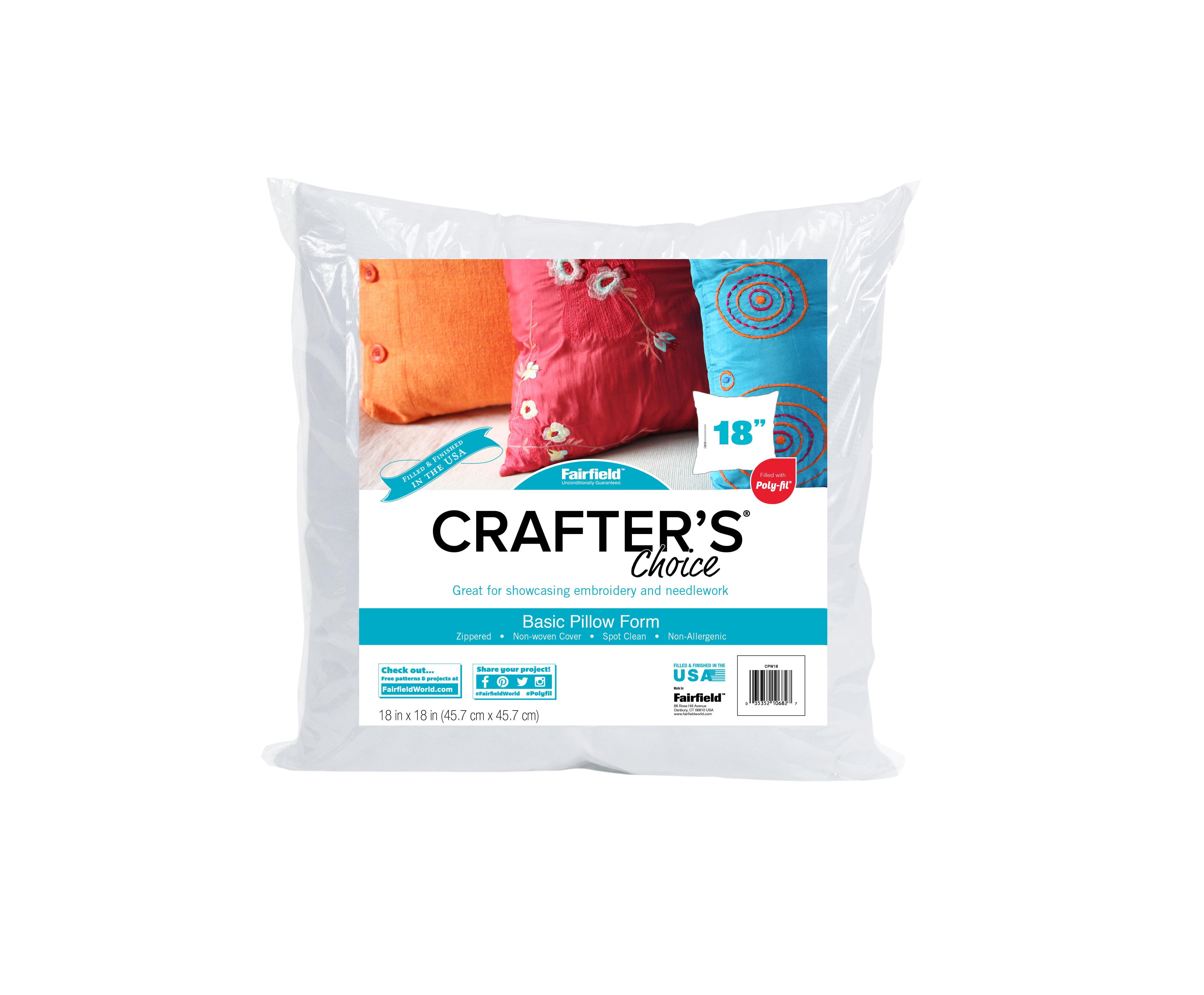 Fairfield Crafter S Choice Pillow Insert 18 X 18 1 Each Walmart Com Walmart Com