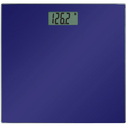 Precision One Glass LCD Digital Bath Scale, Blue
